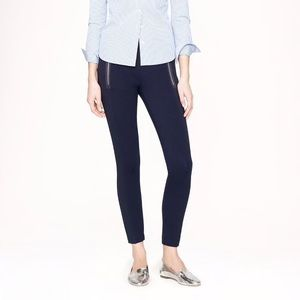 J.Crew Paneled Pixie Pant with Zippers in black